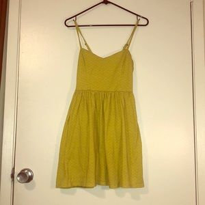 Yellow/green short summer dress